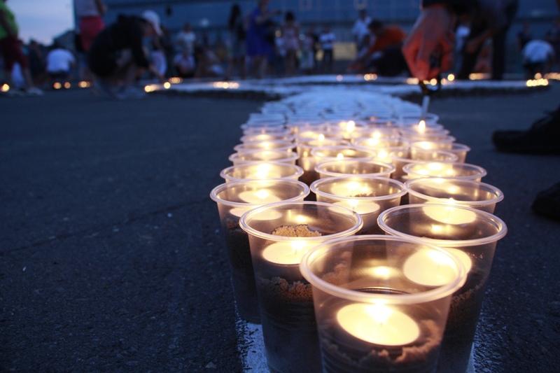 В Рыбинске зажгли 7 000 свечей в память о погибших в Великой Отечественной войне